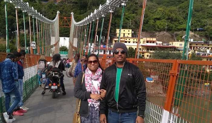 on lakshman jhula in rishikesh