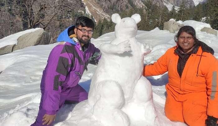 bulit a snowman