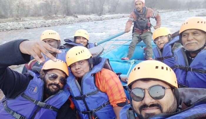 river rafting at beas river with family