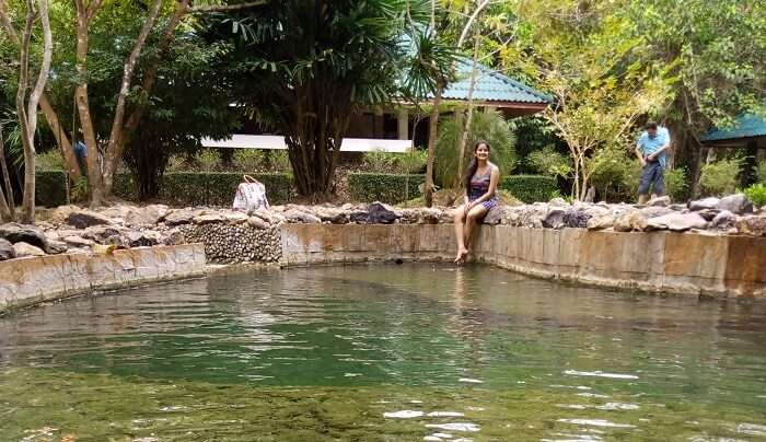 Relaxing at the hot spring in Phuket