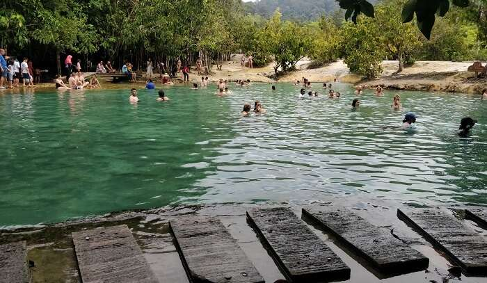 rejuvenating experience in hot spring