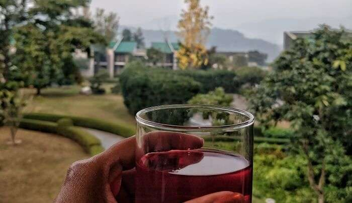 morning tea in the resort