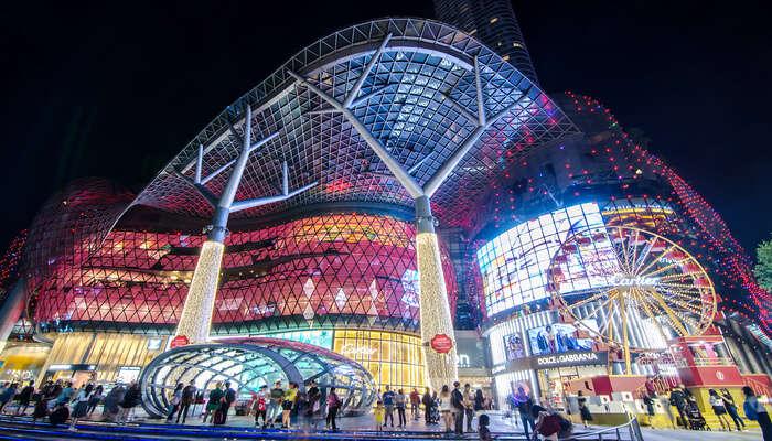 unique architecture of the mall