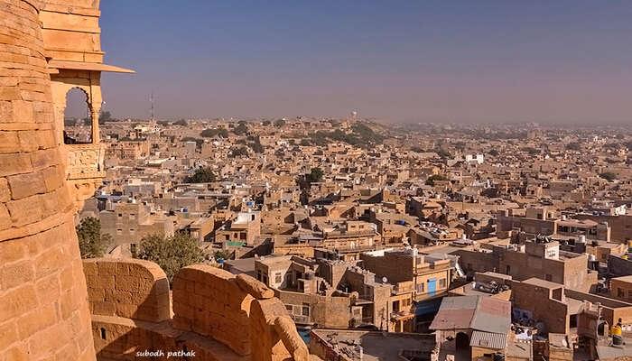 Panoramic view of Jaisalmer