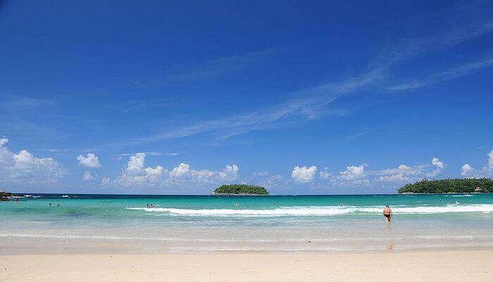 white sand beach is beautiful