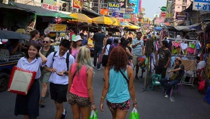 roadside in bangkok, thailand