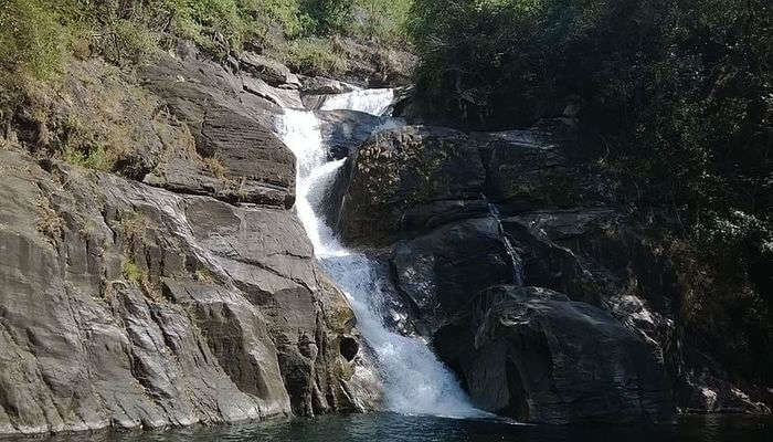 Meenmutty Waterfall In Aralam Sanctuary