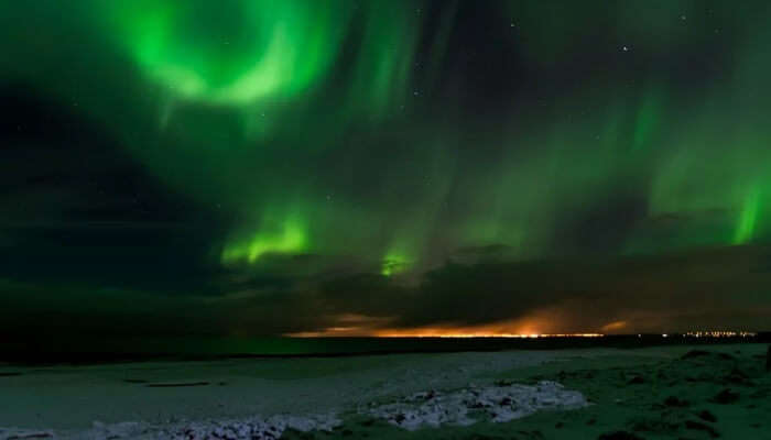 northern lights gives u awesome view