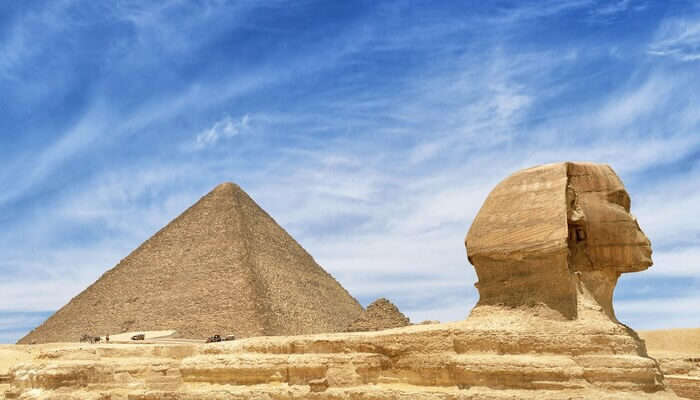 visiting the famous Pyramids of Giza