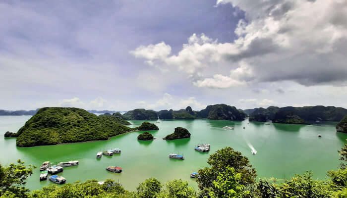 Relax on a boat on Halong Bay