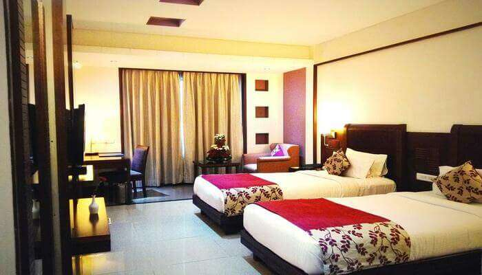 fully furnished rooms in the resort