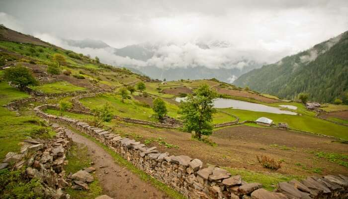 scenic background view, uttarakhand
