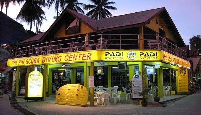 Center for diving