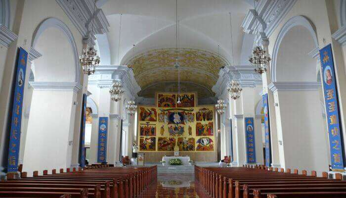 peaceful environment of the church