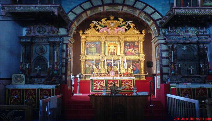 serene environment in the church