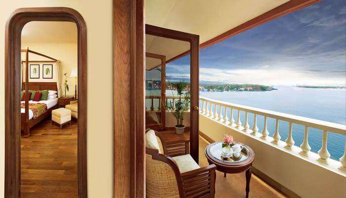 enjoy the splendid view from the balcony