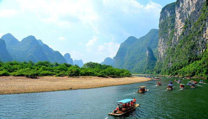 Taking A Boat Ride In The Li River