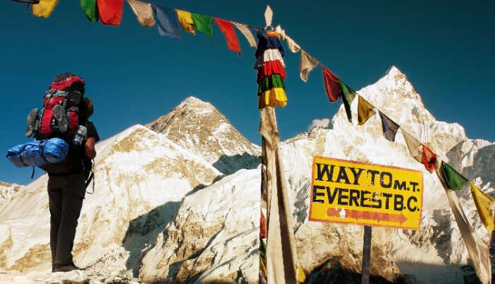 Offering Prayer at Mt Everest