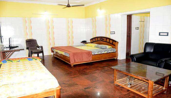 well-furnished and spacious rooms
