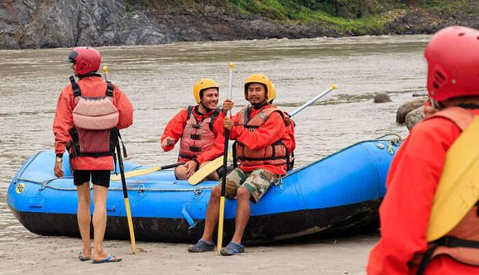 Enjoying Rafting in Kalimpong