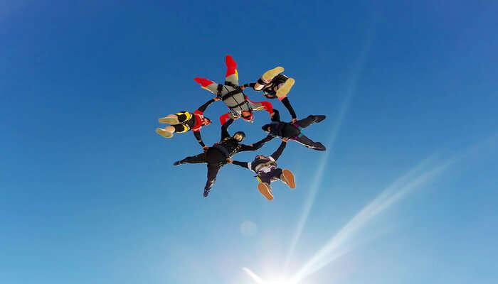 Skydiving in Tasmania