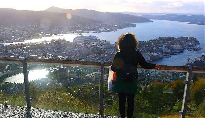top of Mt Floyen_Bergen