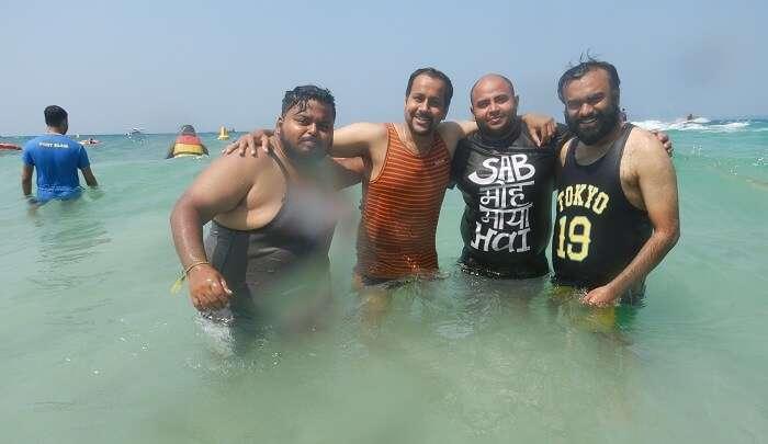 enjoying the water activities