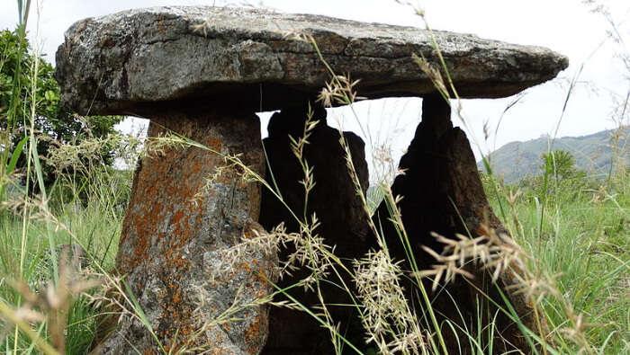 Ancient Rocks In a Field