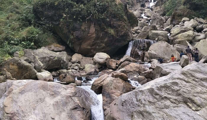 a scenic waterfall view