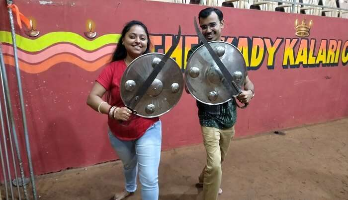 learning the art form of Kalaripayattu