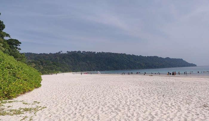 clean white sandy beach
