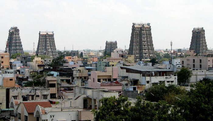 Gopurams in Madurai