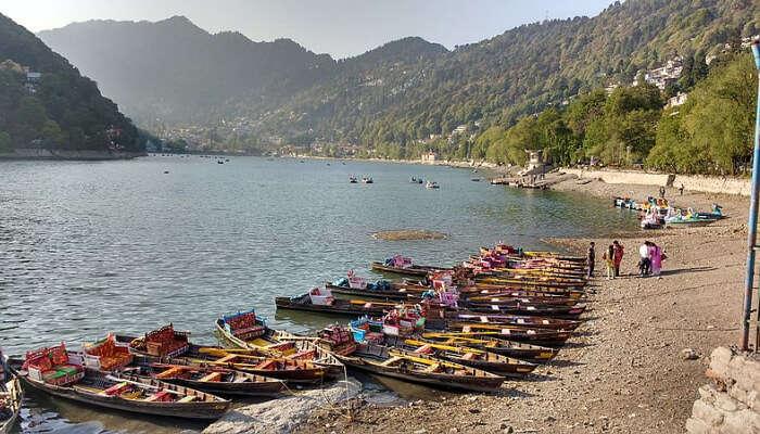 boats in lake