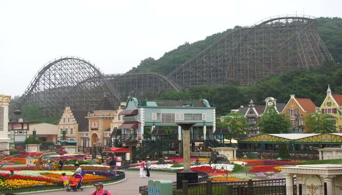 Ride The Wooden Roller Coaster