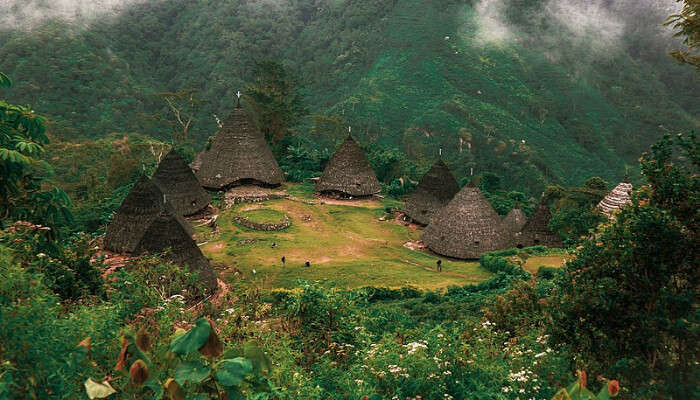 Aerial View of Wae Rebo  Village