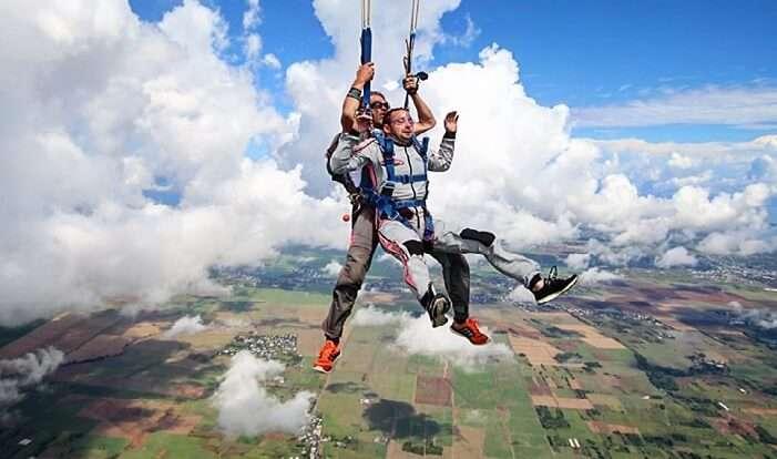 mauritius skydiving