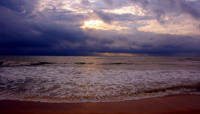 Sunset in a Beach