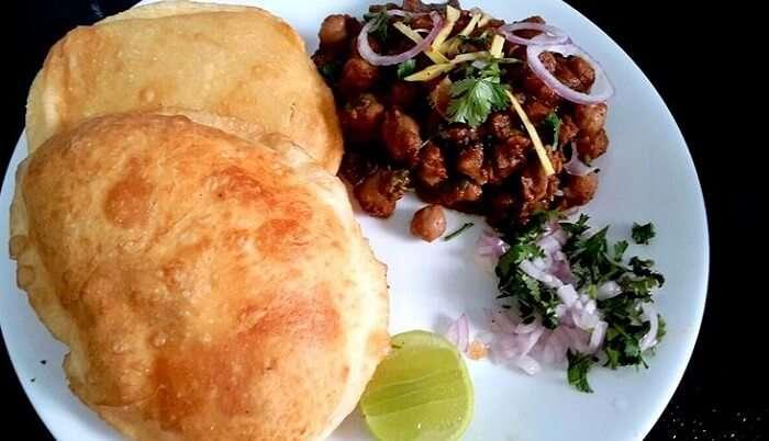 flavourful taste of Cholle Bhaturey