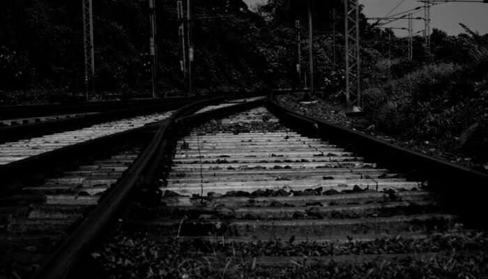 railway track shot
