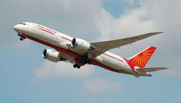 An Air India Flight in Air