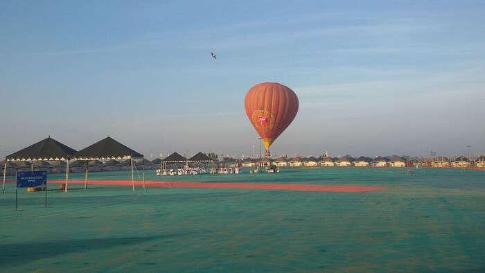 A Hot Air Balloon in Hanuwantiya Island