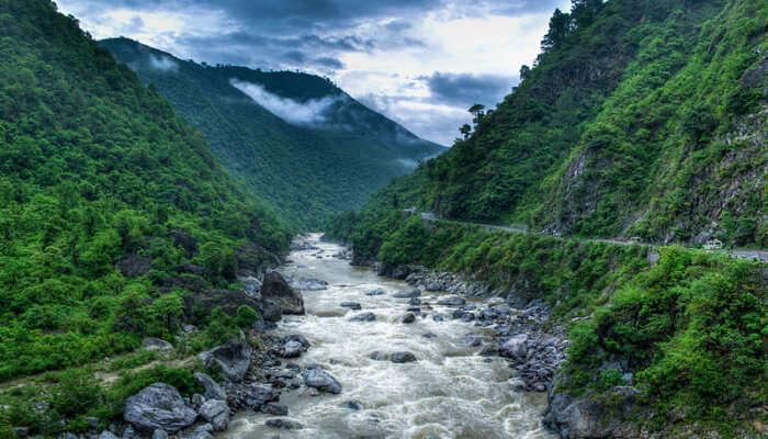 River Valley In Uttarakhand