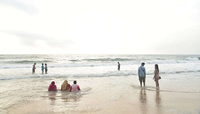 Swimming In Kovalam Beach