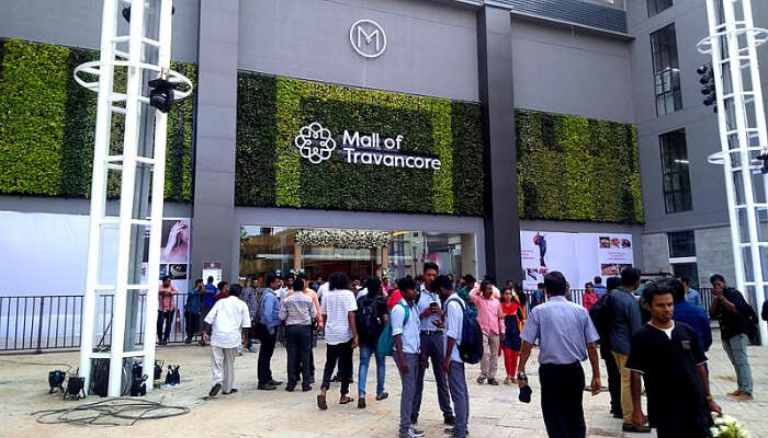 Mall Of Travancore Entrance