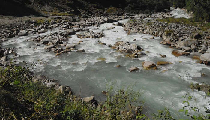 Fast Flowing River In Uttarakhand